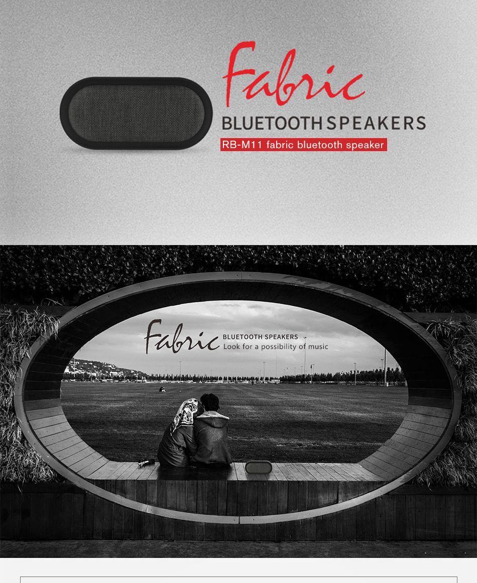 Remax M11 Portable Wireless Fabric Bluetooth Speaker (3)