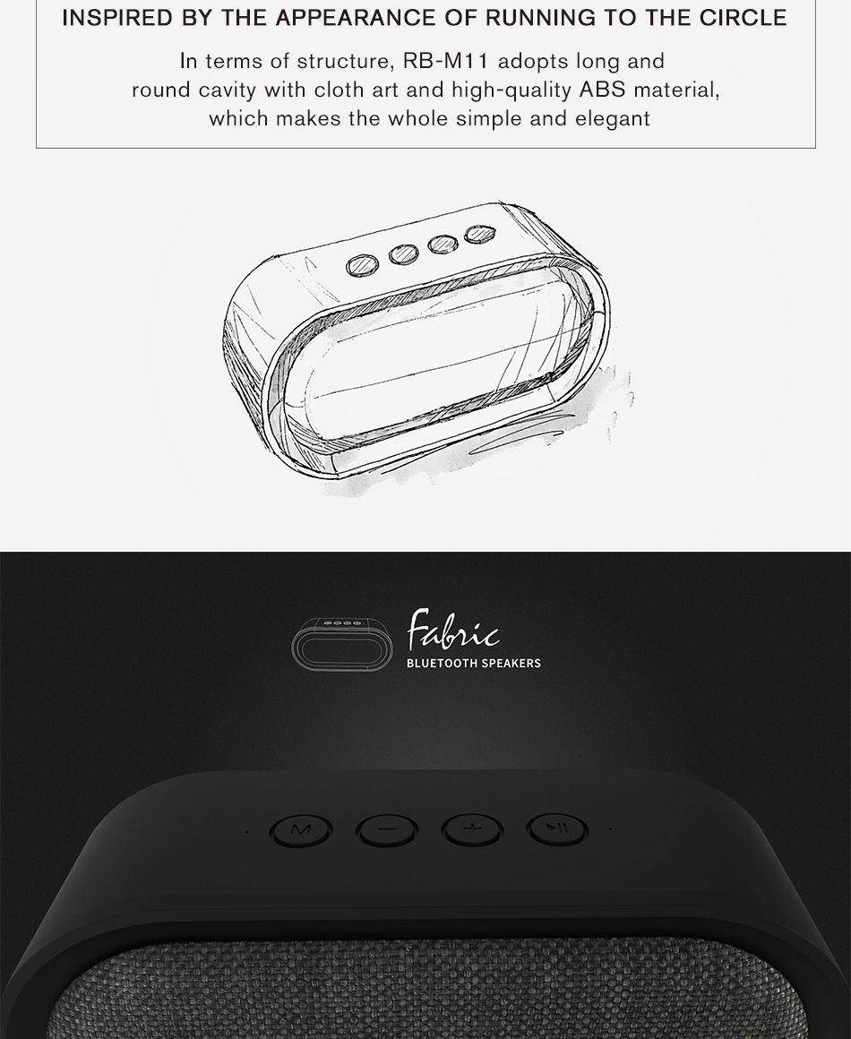 Remax M11 Portable Wireless Fabric Bluetooth Speaker (8)