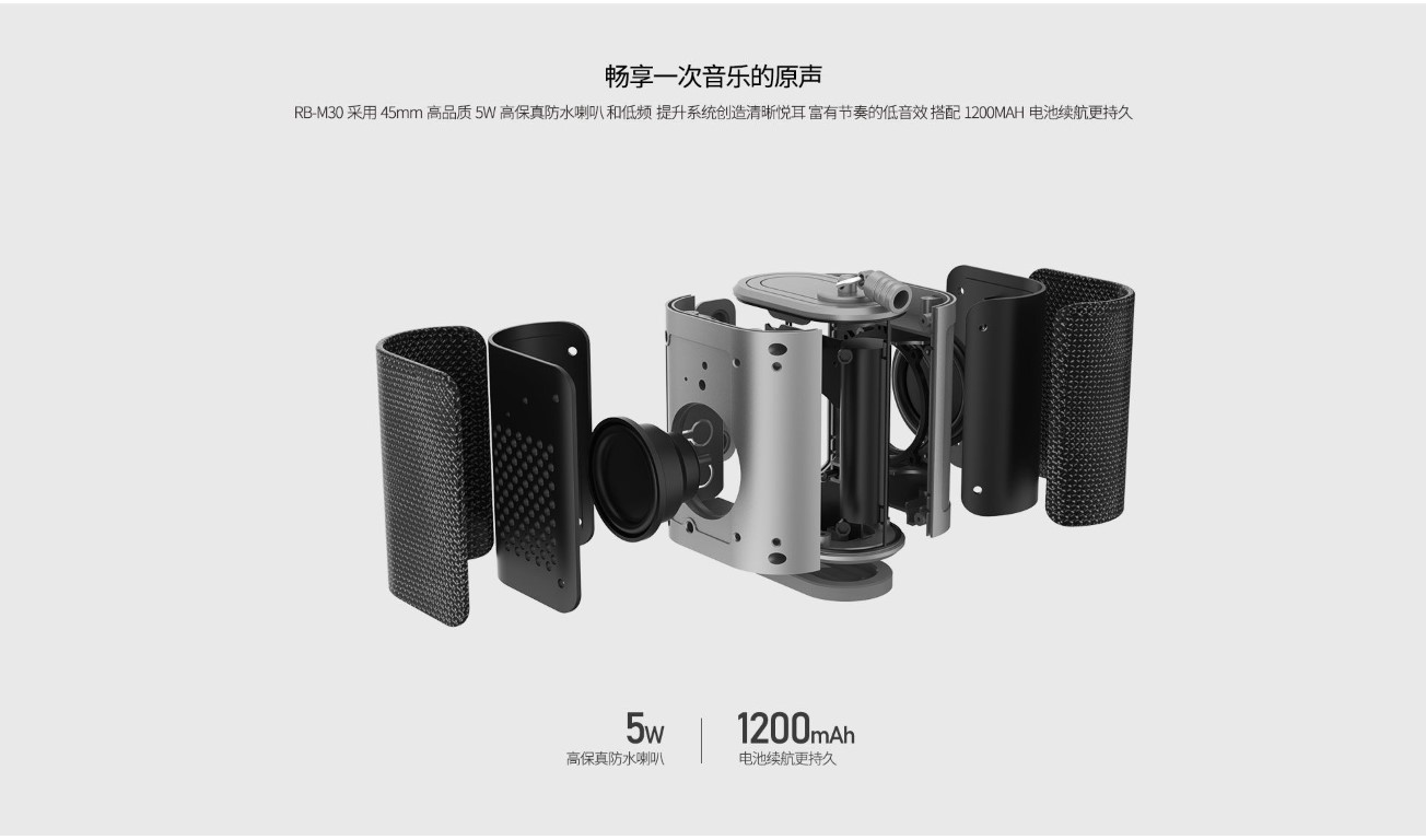 Remax Rb M30 Fabric Series Wireless Bluetooth Speaker (7)