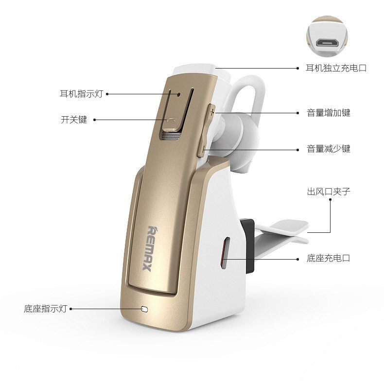 Remax Rb T6c Bluetooth Earphone With Charging Dock (4)