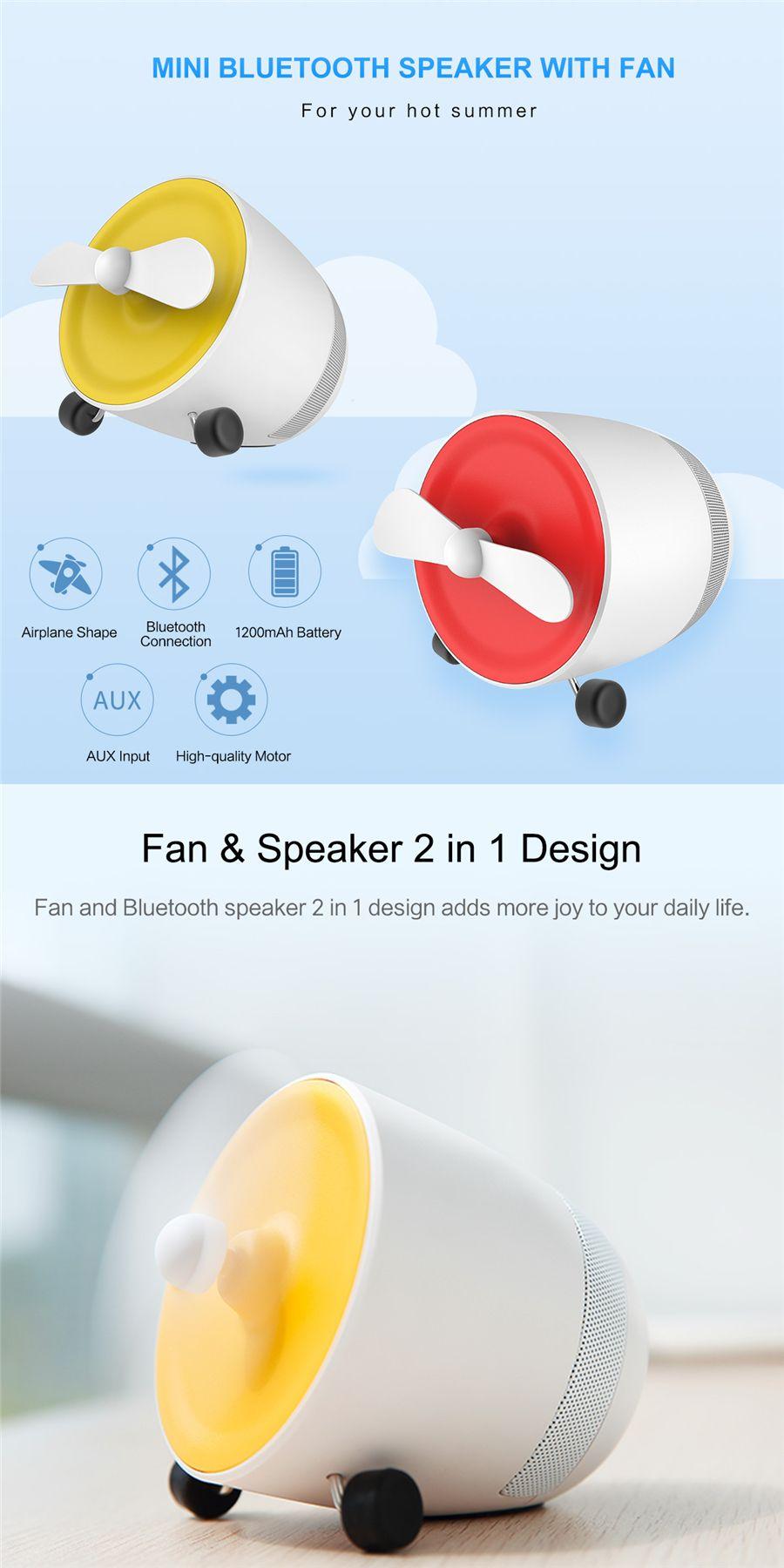 Rockspace Mini Bluetooth Speaker With Fan (4)