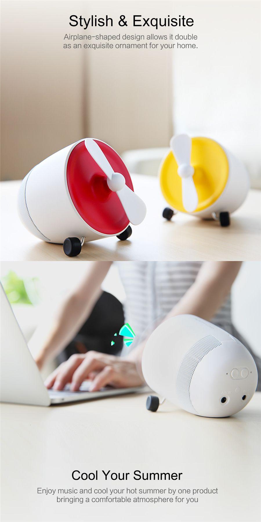 Rockspace Mini Bluetooth Speaker With Fan (9)