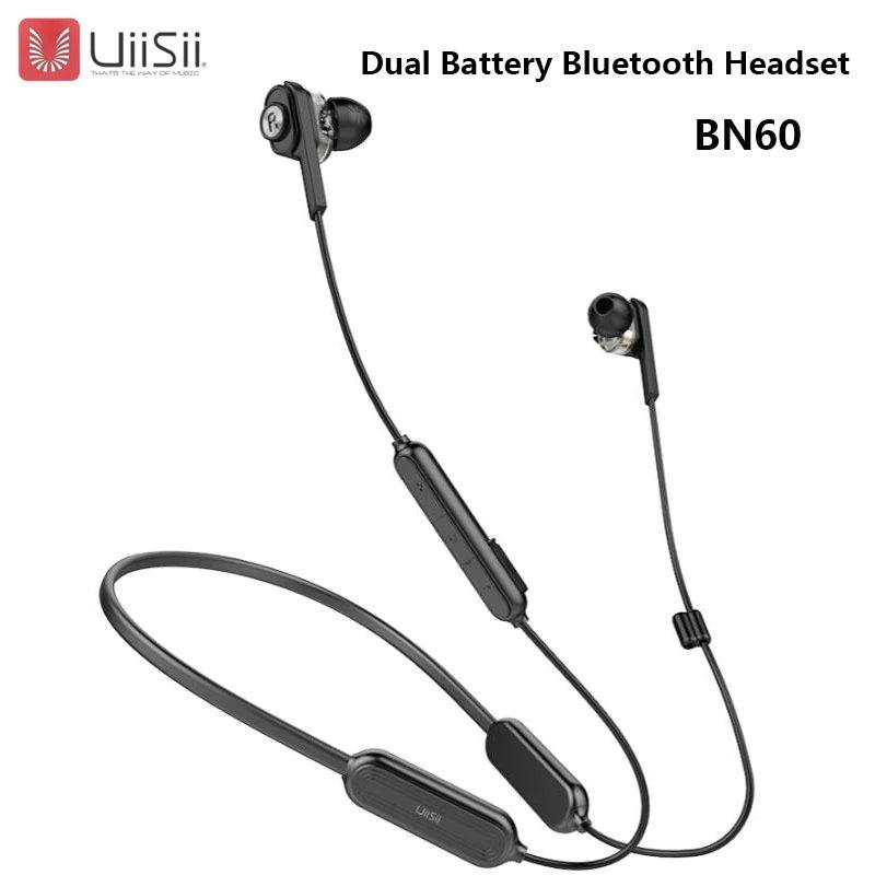 Uiisii Bn60 Wireless Bluetooth Headset Dual Dynamic In Ear Earphone 250mah Battery Ipx5 Waterproof Csr Bt4 1 Earbuds For Phone (2)