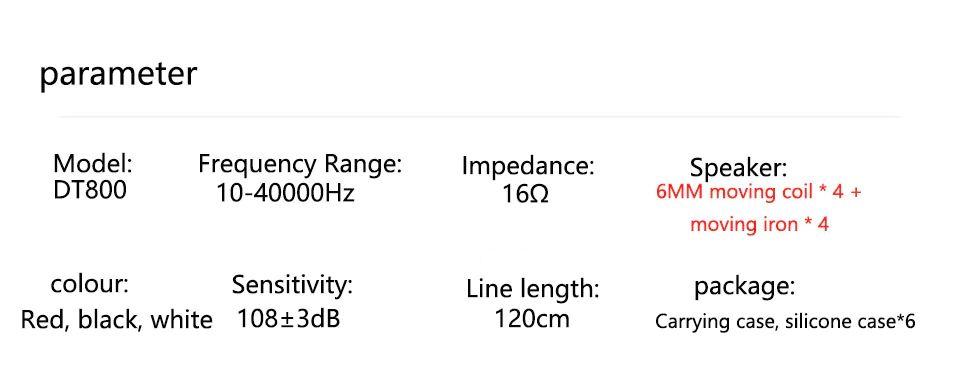Uiisii Dt800 Four Drivers Surround Sound Hi Res Earphones (6)