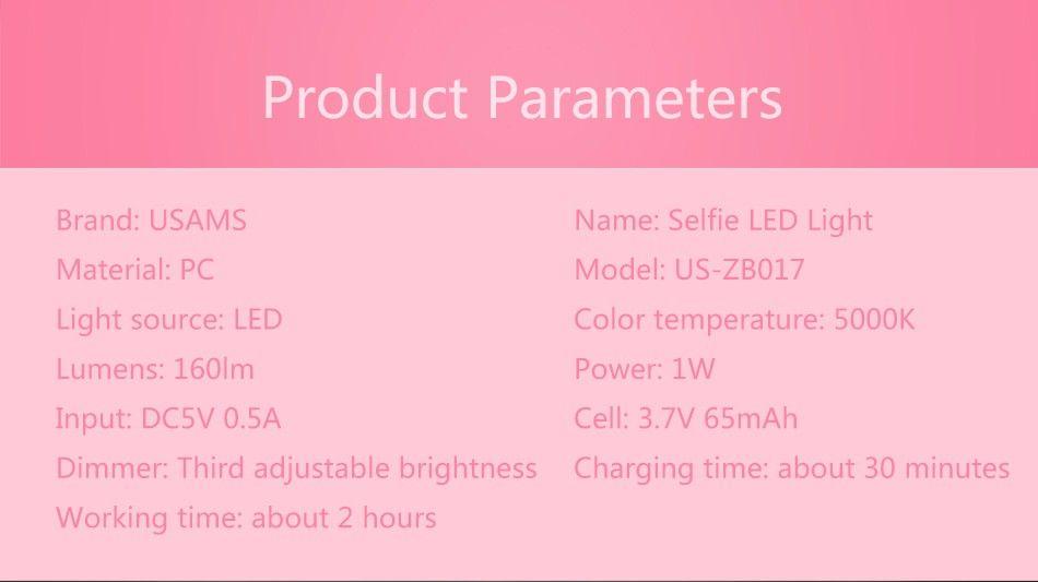 Usams Led Selfie Colorful Full Light (10)