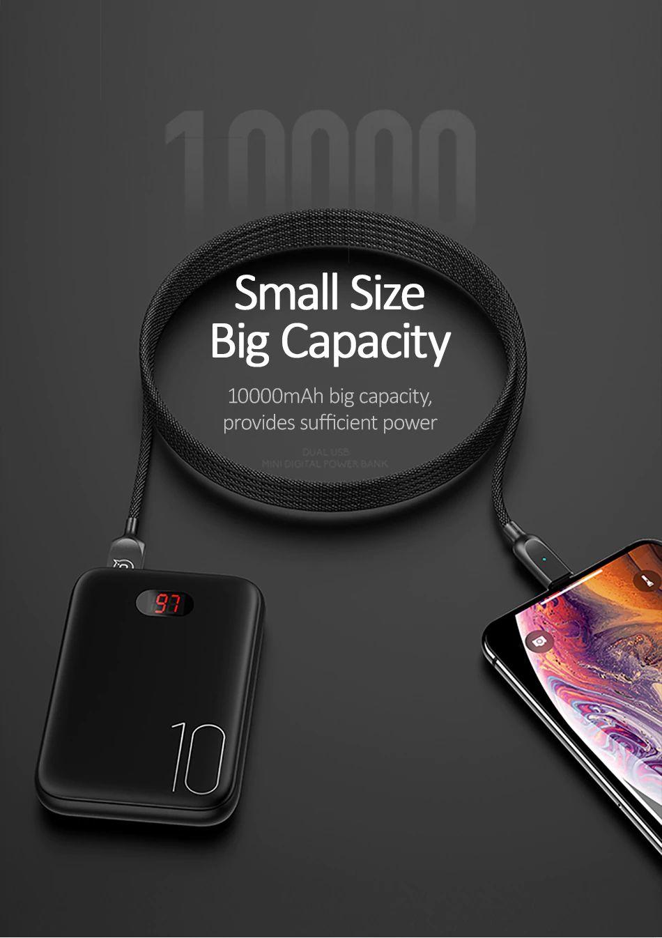 Usams Pb9 10000mah Dual Usb Mini Digital Power Bank (6)