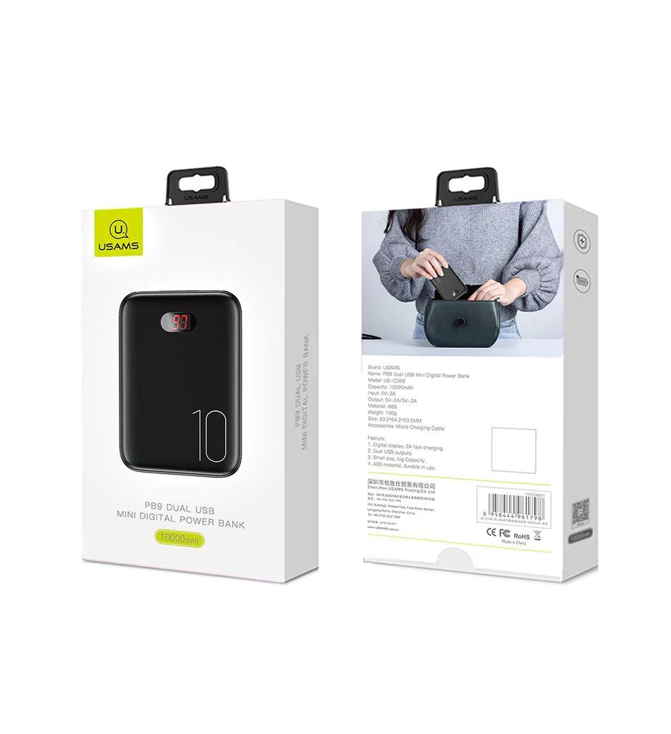 Usams Pb9 10000mah Dual Usb Mini Digital Power Bank (9)