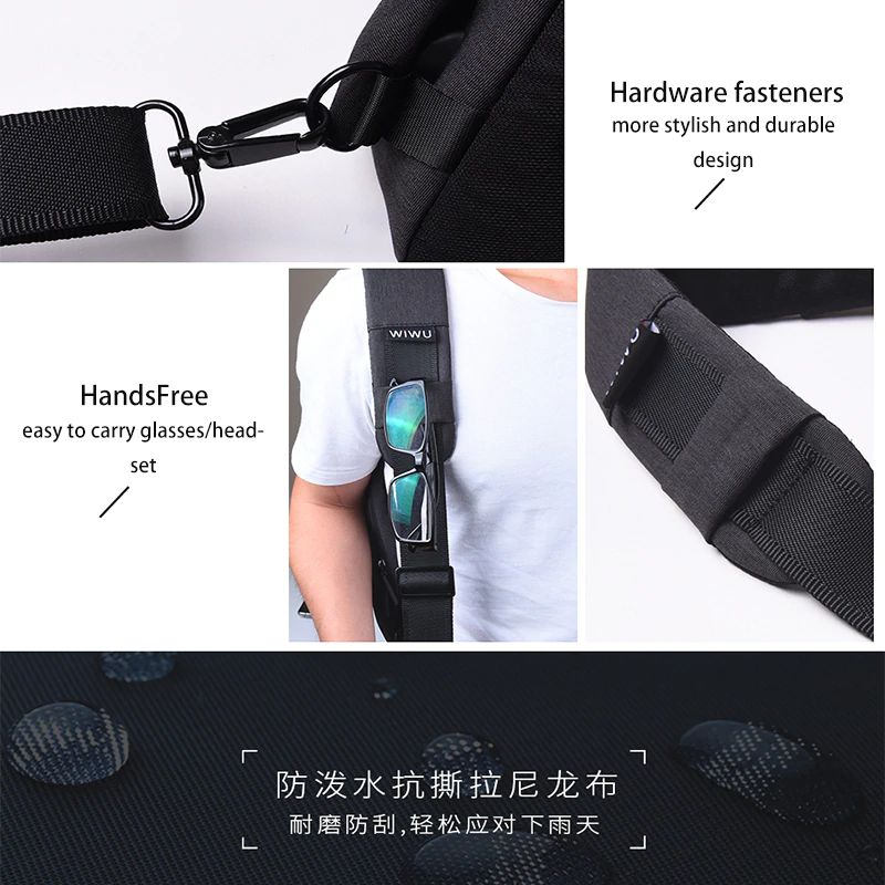 Wiwu Cross Body Single Shoulder Bags For Men (2)