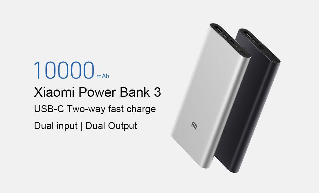 Xiaomi Mi 10000mah Power Bank 3 Two Way Quick Charge (2)