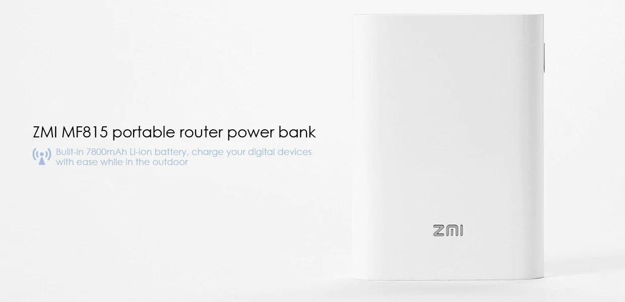 Zmi Mf815 2 In 1 4g Wireless Wifi Router And 7800mah Mobile Power Bank (1)