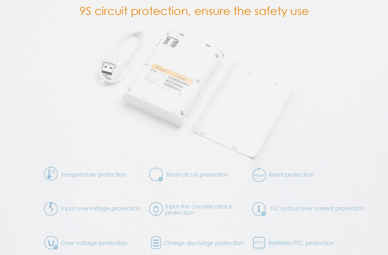 Zmi Mf815 2 In 1 4g Wireless Wifi Router And 7800mah Mobile Power Bank (7)