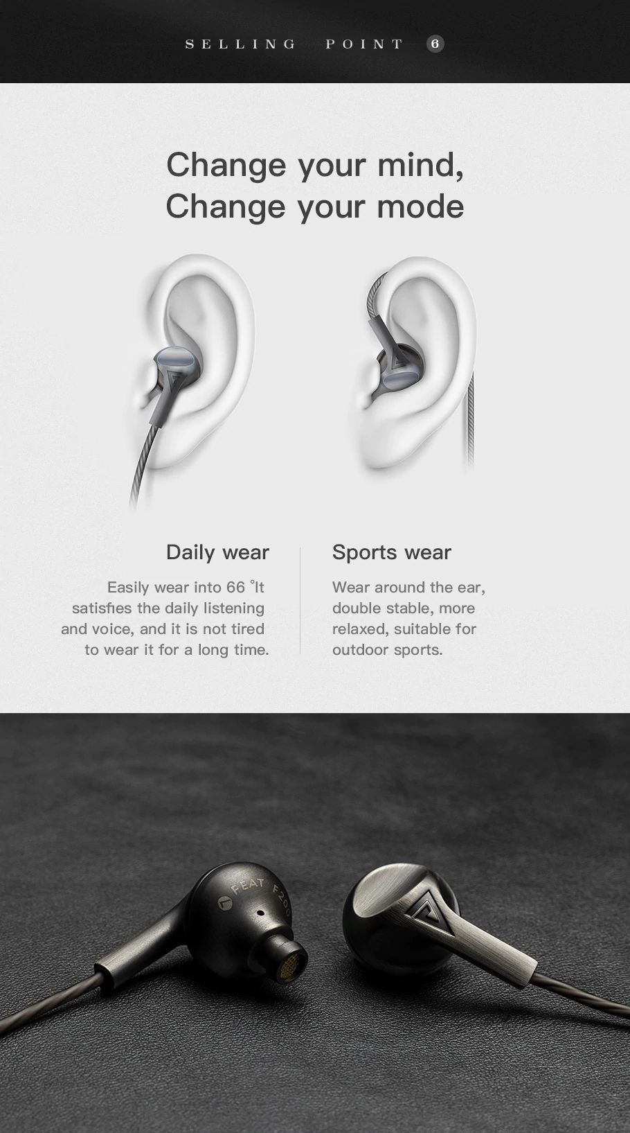 Auglamour F200 In Ear Earphone (11)