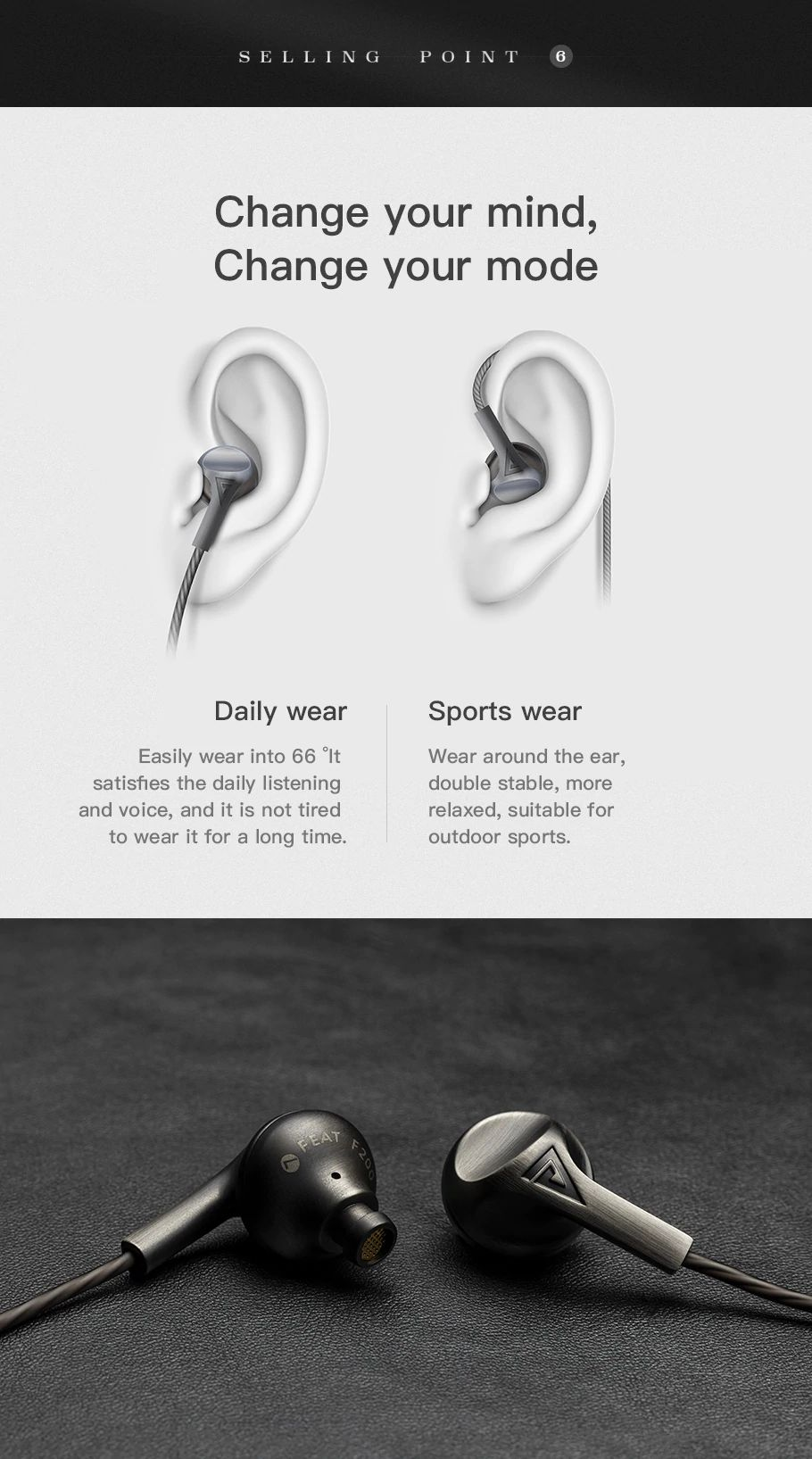 Auglamour F200 In Ear Earphone (8)