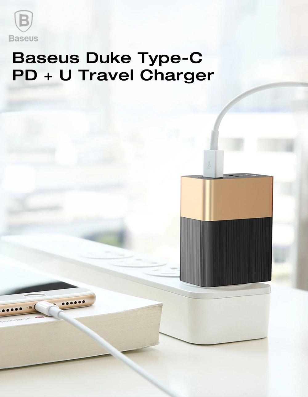 Baseus Duke Type C Pd U Travel Charger (8)