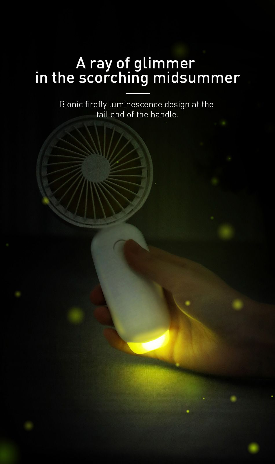 Baseus Firefly Mini Fan 1500mah Rechargeable Usb Fan (10)