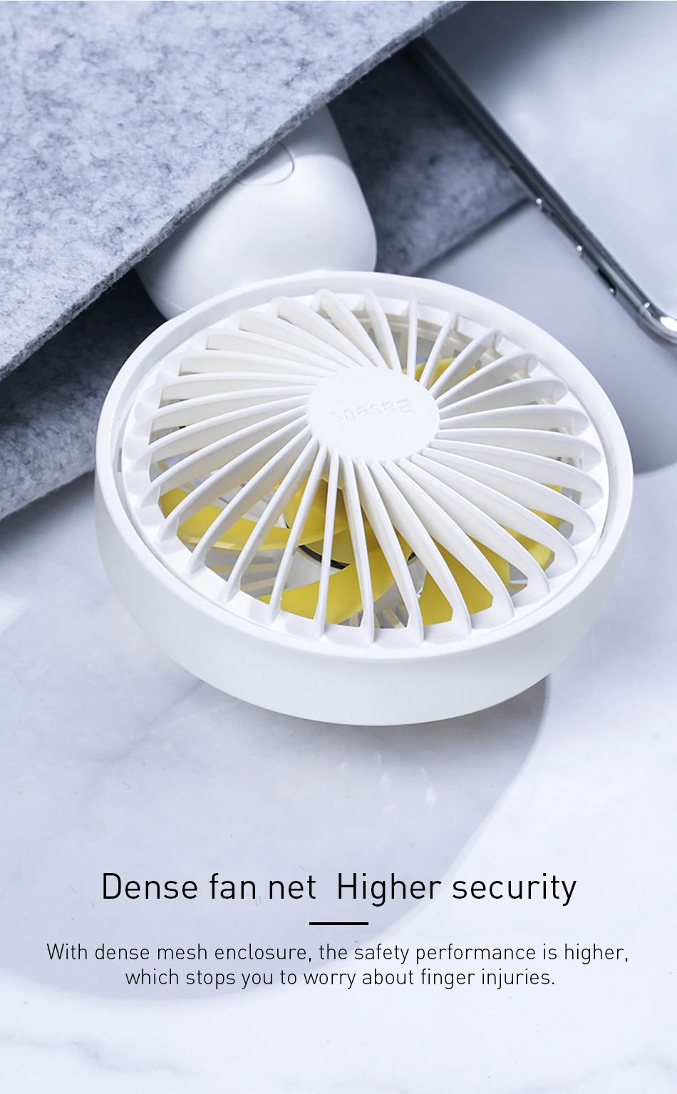 Baseus Firefly Mini Fan 1500mah Rechargeable Usb Fan (12)