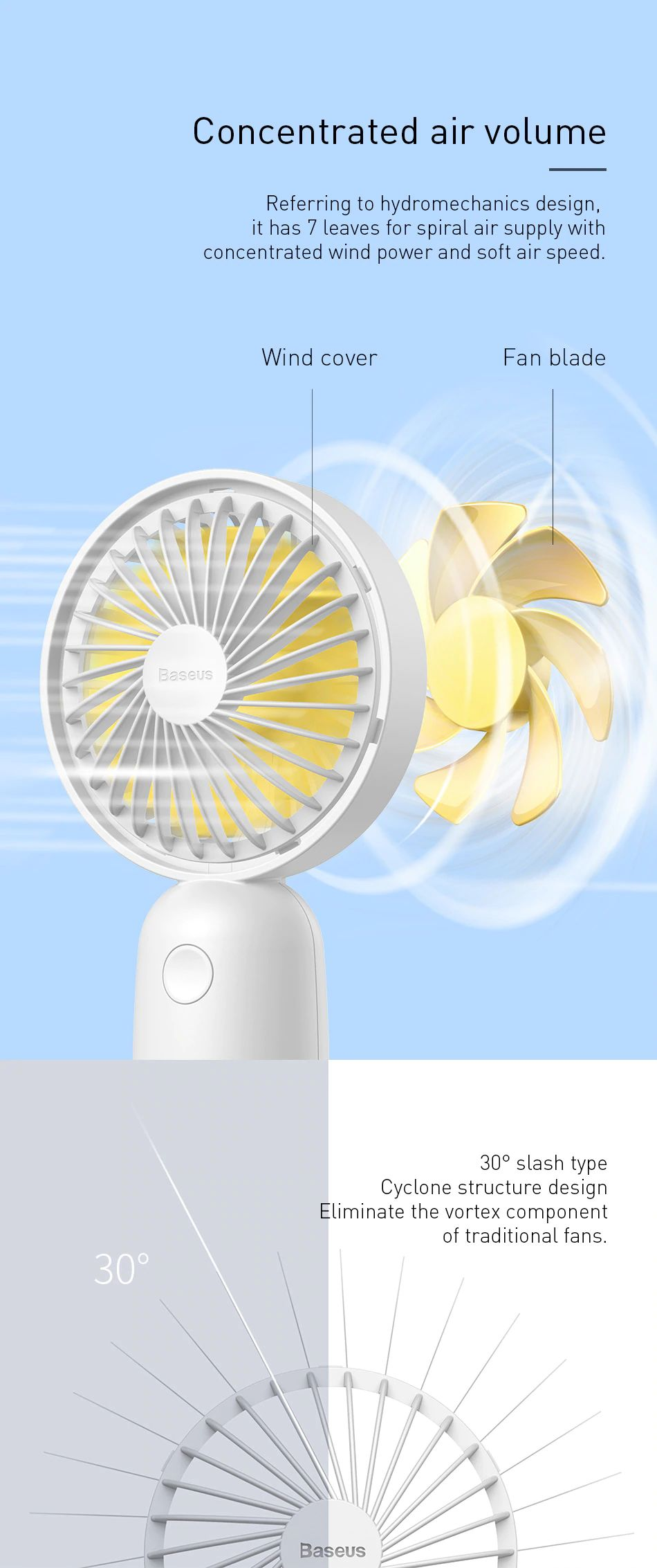 Baseus Firefly Mini Fan 1500mah Rechargeable Usb Fan (13)