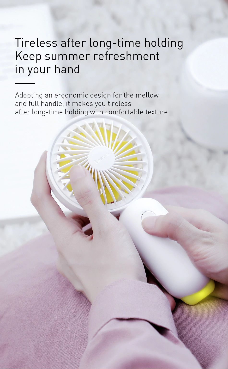 Baseus Firefly Mini Fan 1500mah Rechargeable Usb Fan (2)