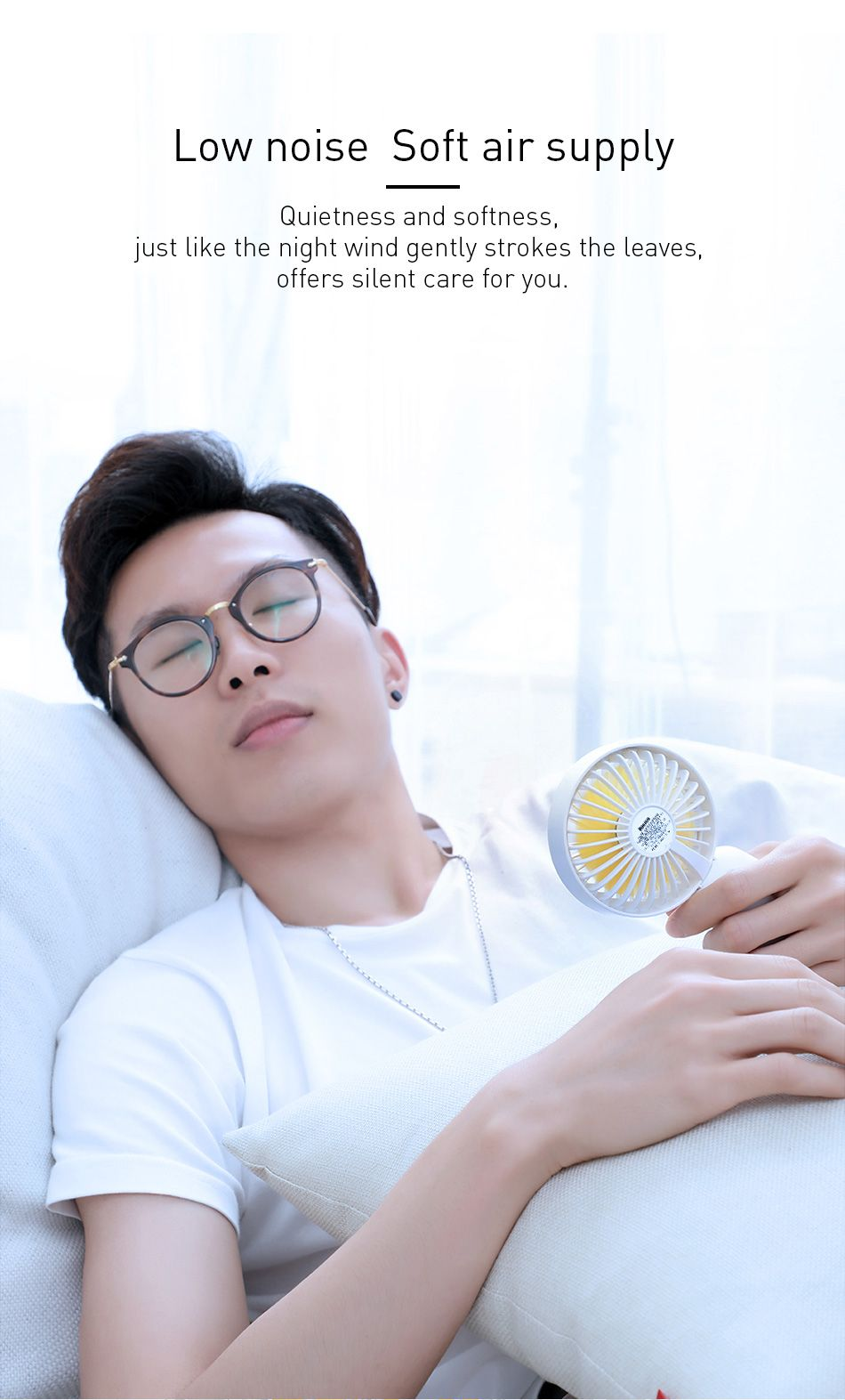 Baseus Firefly Mini Fan 1500mah Rechargeable Usb Fan (4)