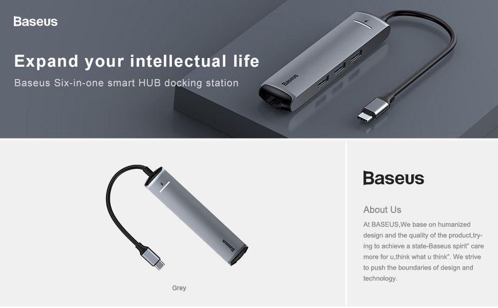 Baseus Mechanical Eye 6 In 1 Smart Hub (1)