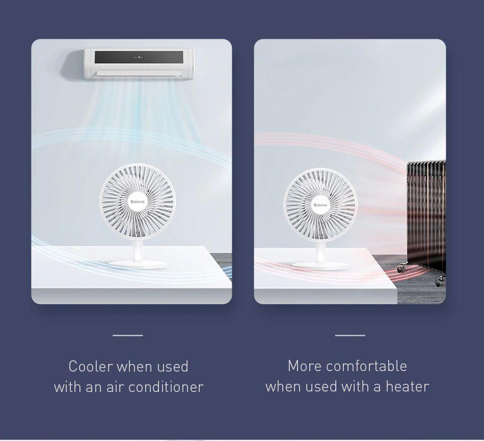 Baseus Ocean Fan 4 Wind Speeds Usb Rechargeable Air Cooling Fan (10)