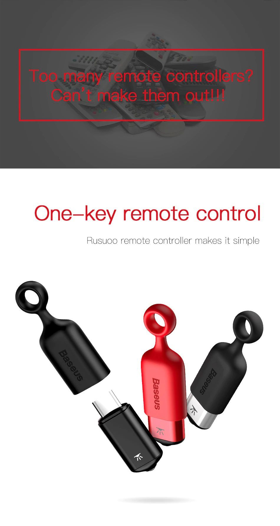 Baseus R01 Ir Remote Control For Lightning (12)