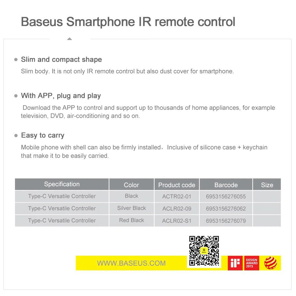 Baseus R01 Ir Remote Control For Lightning (14)