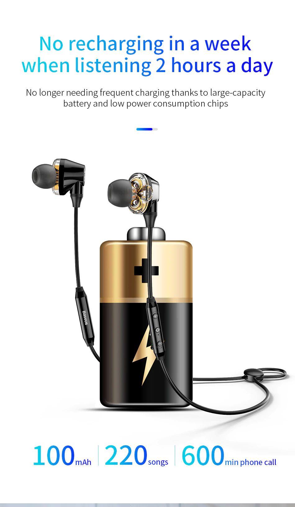 Baseus S10 Waterproof Wireless Bluetooth Earphones (10)