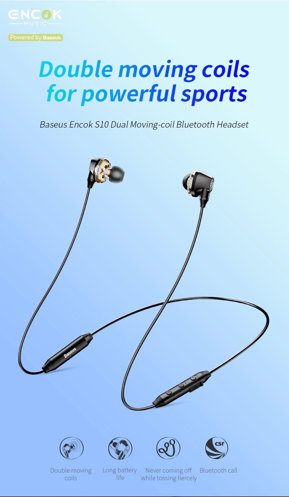 Baseus S10 Waterproof Wireless Bluetooth Earphones (7)