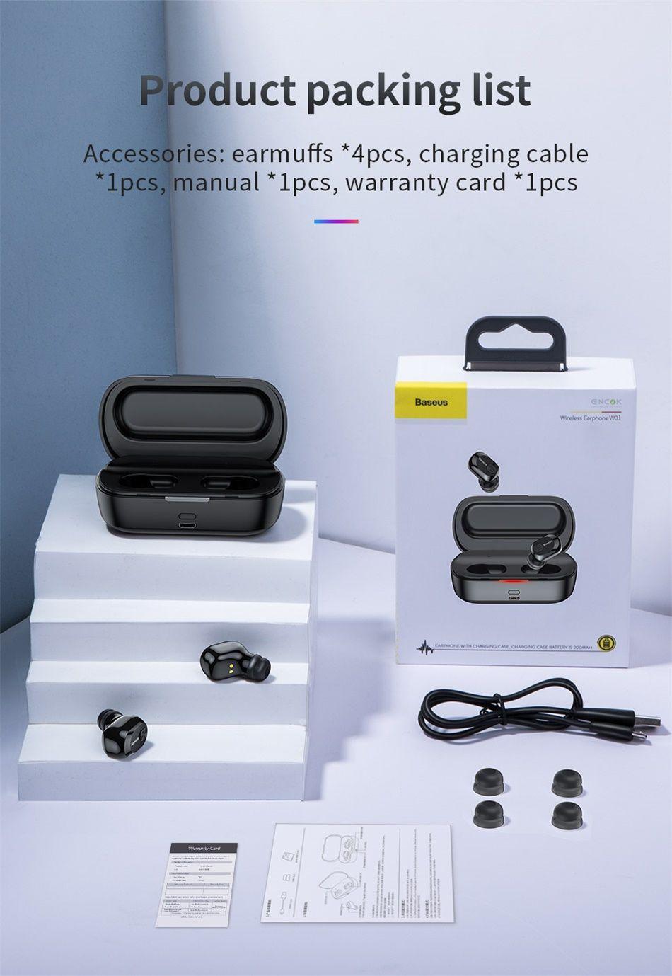 Baseus W01 Tws Bluetooth5 Wireless Earbuds (19)