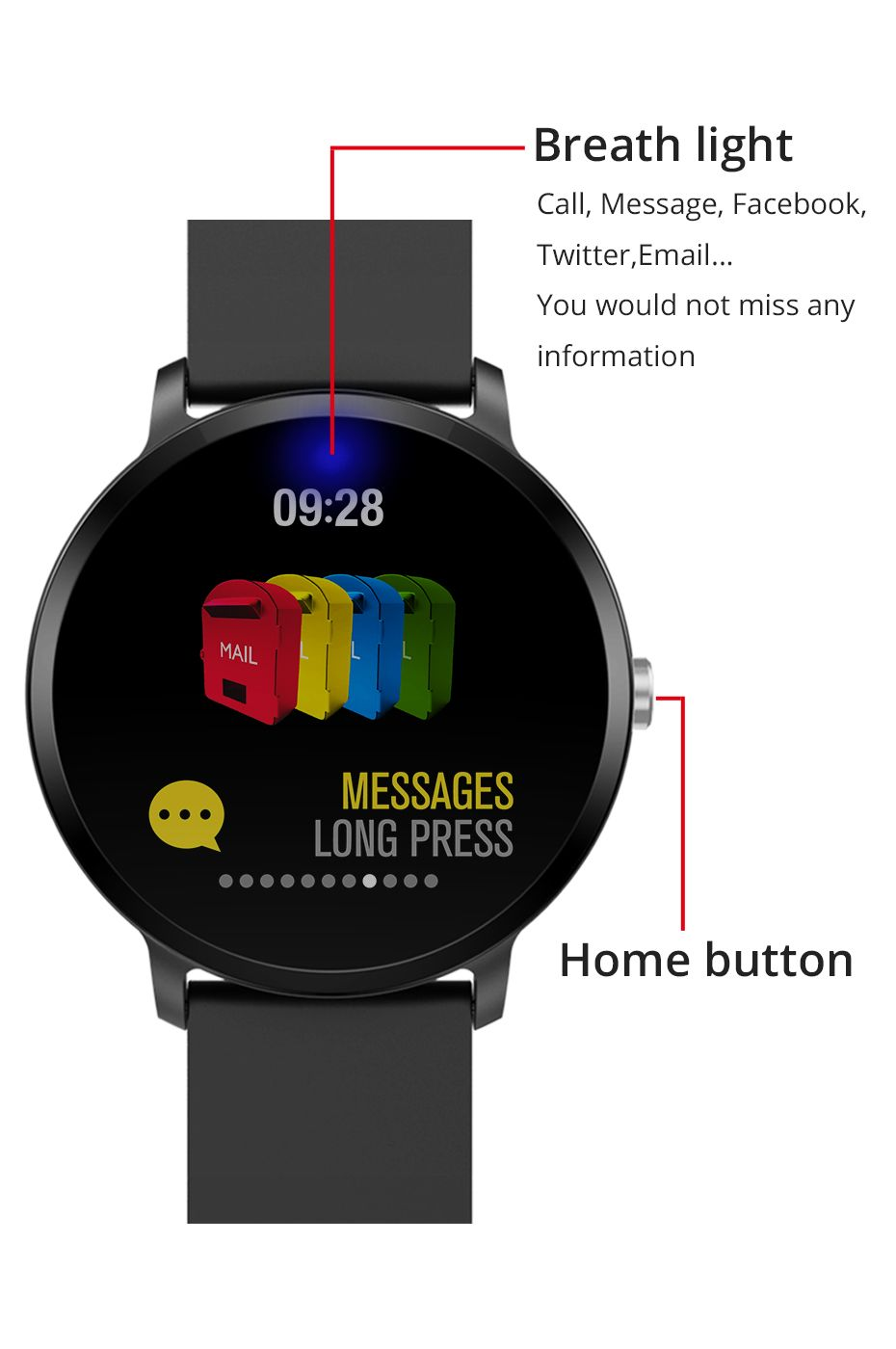 Colmi V11 Smartwatch Ip67 Waterproof (7)