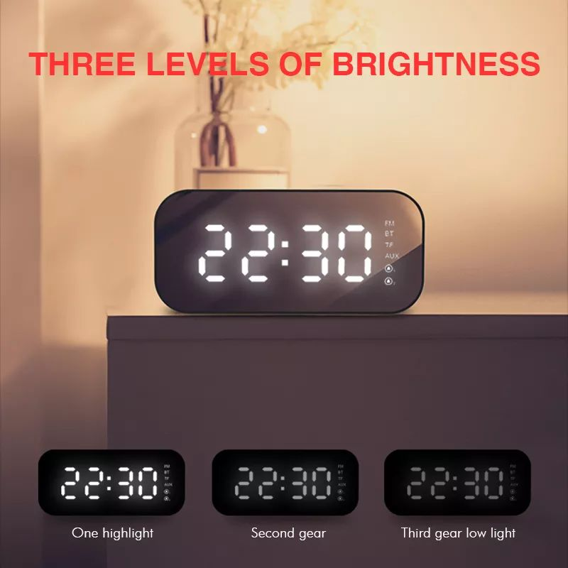 Havit M3 Wireless Bluetooth Speaker With Alarm Clock Radio (11)