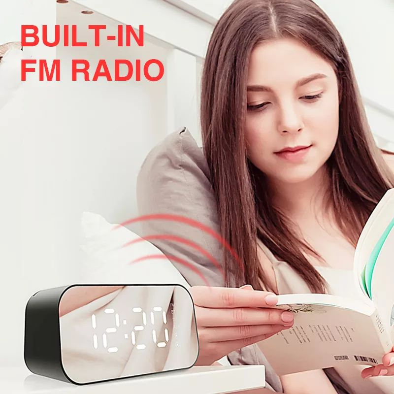 Havit M3 Wireless Bluetooth Speaker With Alarm Clock Radio (8)