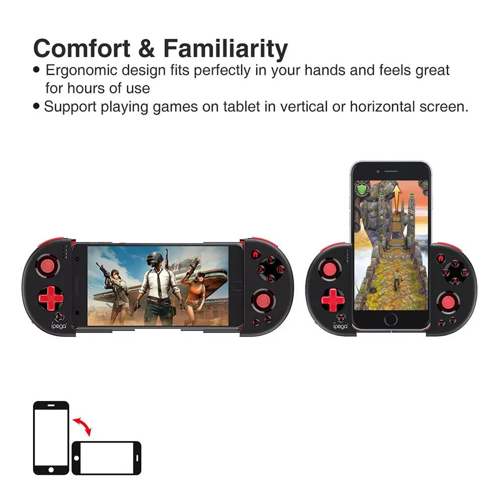 Ipega Pg 9087 Extendable Bluetooth Wireless Controller Gamepad Joystick For Ios Android Smartph ( (3)