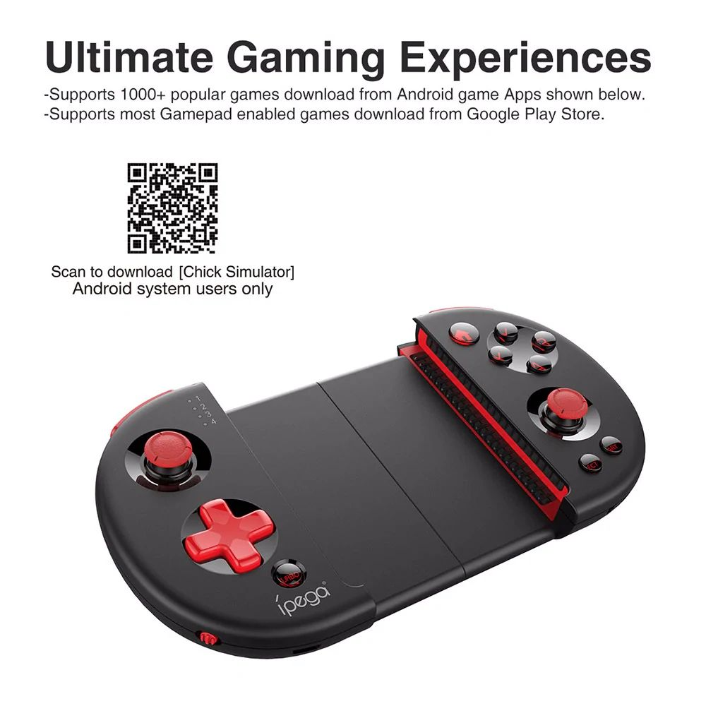 Ipega Pg 9087 Extendable Bluetooth Wireless Controller Gamepad Joystick For Ios Android Smartph ( (4)