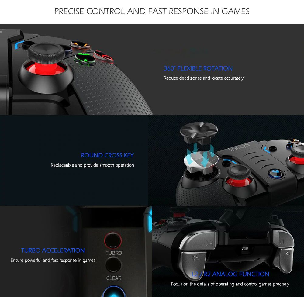 Ipega Pg 9099 Bluetooth Gamepad For Android Smart Phone Pc (2)
