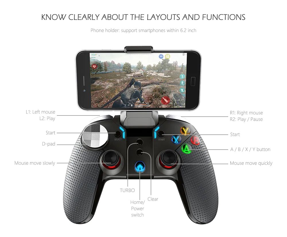 Ipega Pg 9099 Bluetooth Gamepad For Android Smart Phone Pc (4)