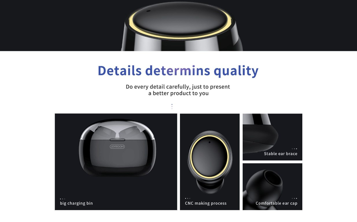Joyroom Jr T05 Tws Bluetooth Earphones With Charging Box (5)