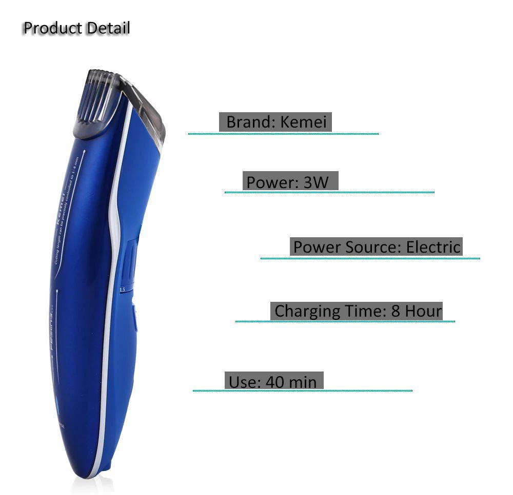 Kemei Km 2013 Rechargeable Beard Trimmer For Men (4)