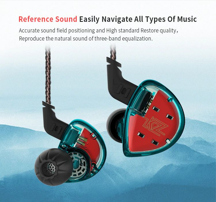 Kz Es4 Hybrid Hifi Dynamic In Ear Earphone (10)
