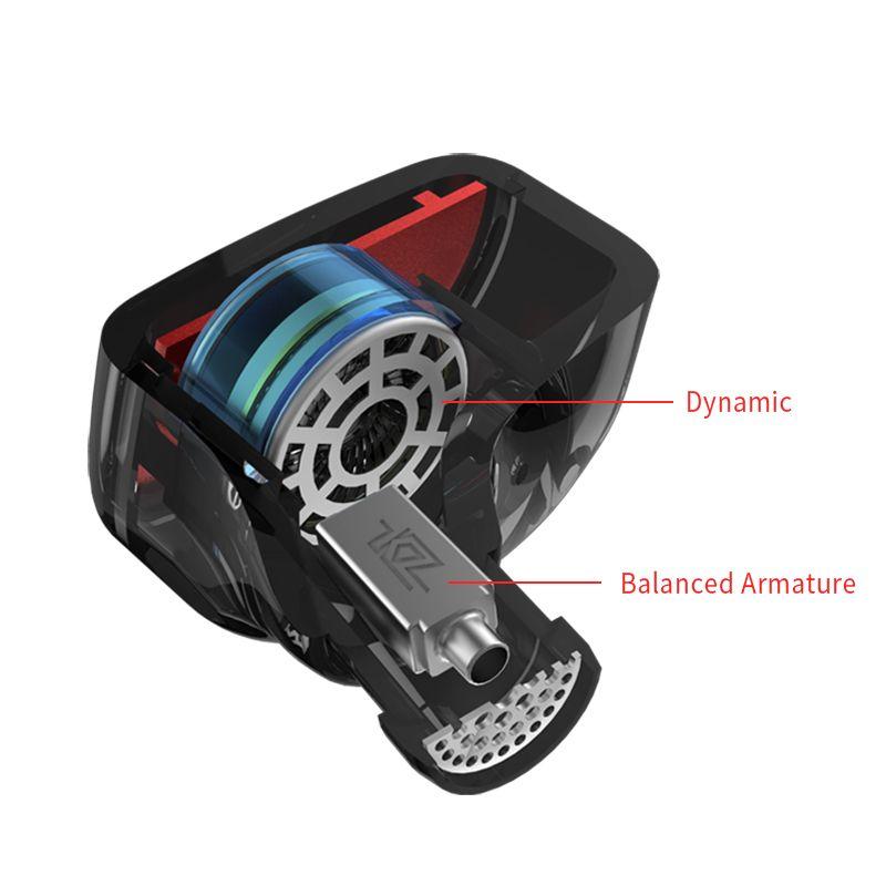 Kz Es4 Hybrid Hifi Dynamic In Ear Earphone (3)