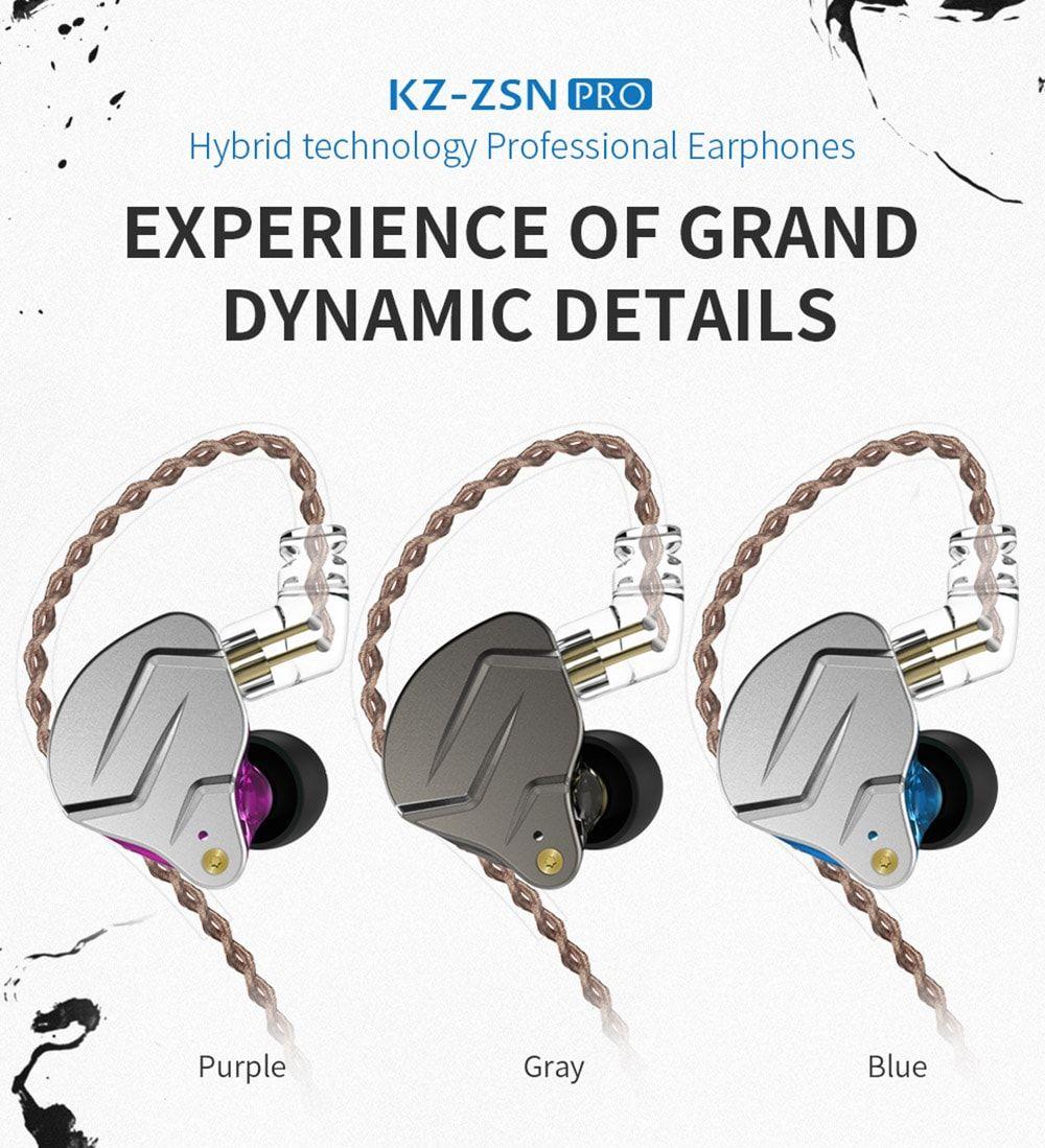 Kz Zsn Pro Hybrid Heavy Bass Earphones (1)