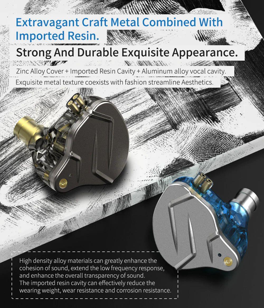 Kz Zsn Pro Hybrid Heavy Bass Earphones (5)