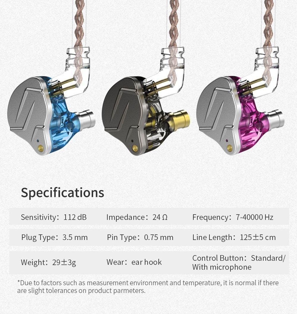Kz Zsn Pro Hybrid Heavy Bass Earphones (6)