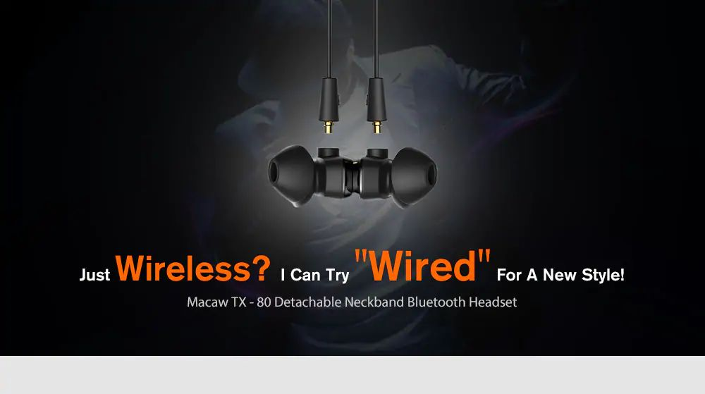 Macaw Tx80 Ipx5 Waterproof Bluetooth Earphone (2)