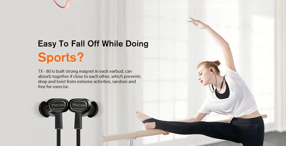 Macaw Tx80 Ipx5 Waterproof Bluetooth Earphone (4)