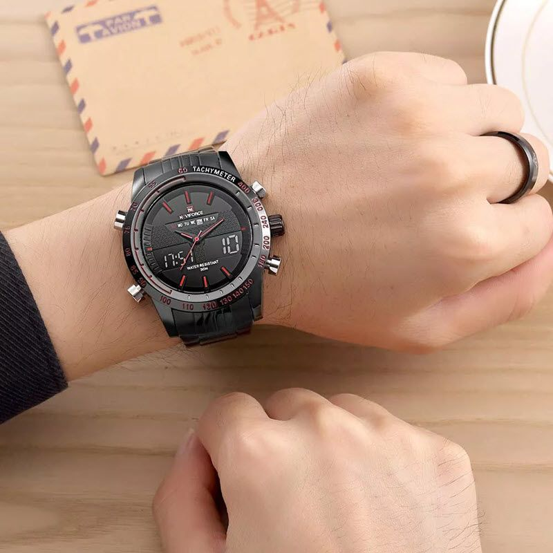 Naviforce Nf9024 Military Dual Display Wrist Watch For Men (1)