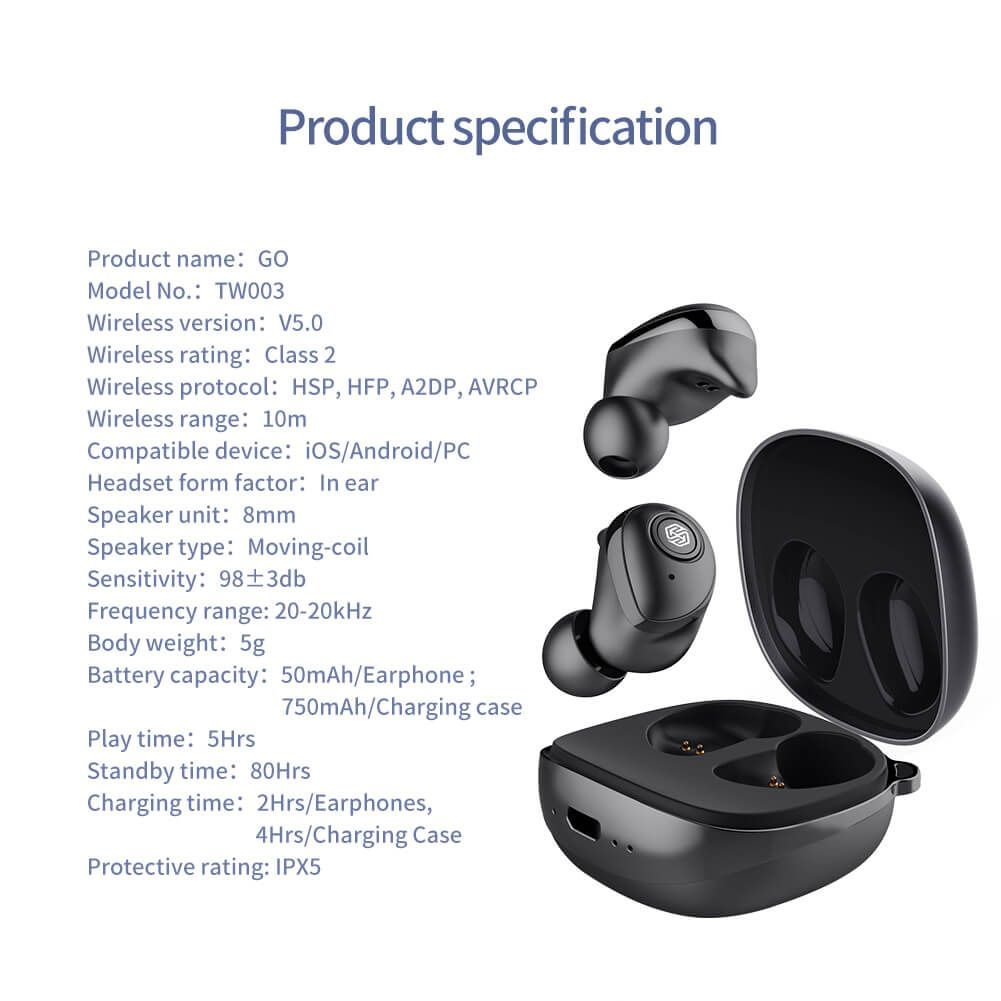 Nillkin Go Tws Bluetooth 5 0 Wireless Earphones (16)