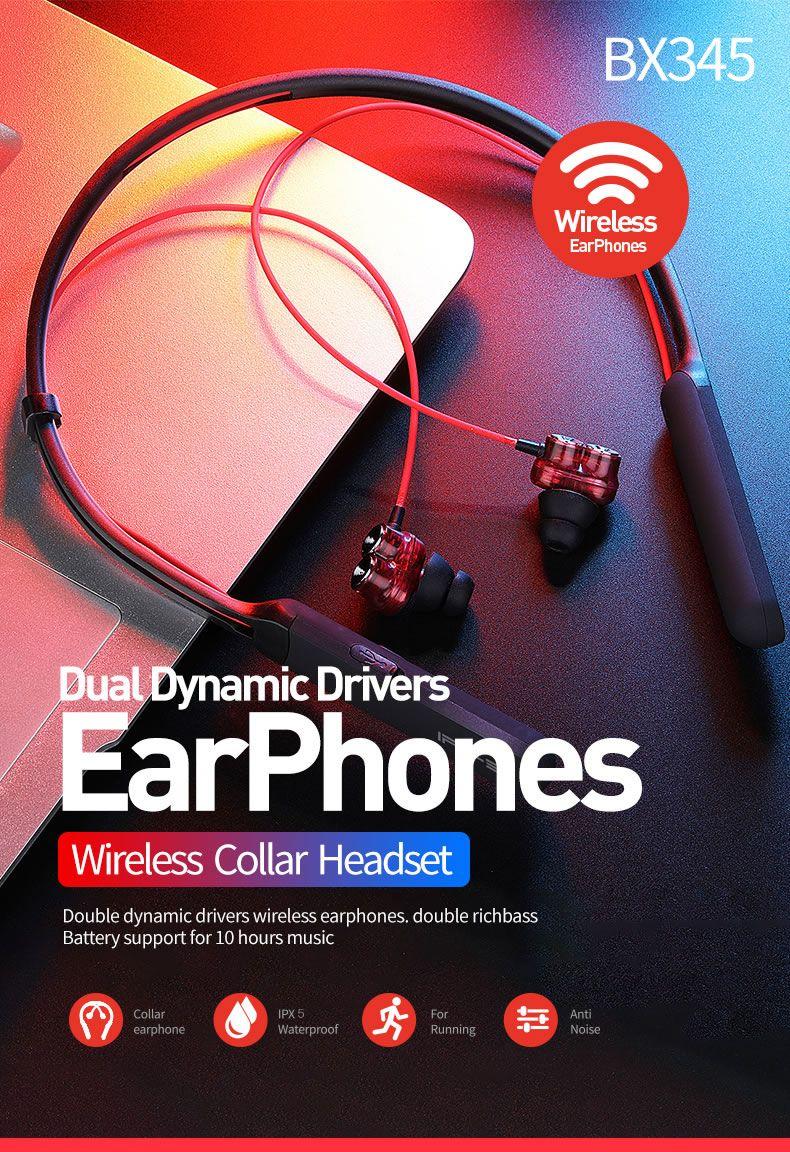 Plextone Bx345 2dd Dynamic Bluetooth Neckband Headphones (10)