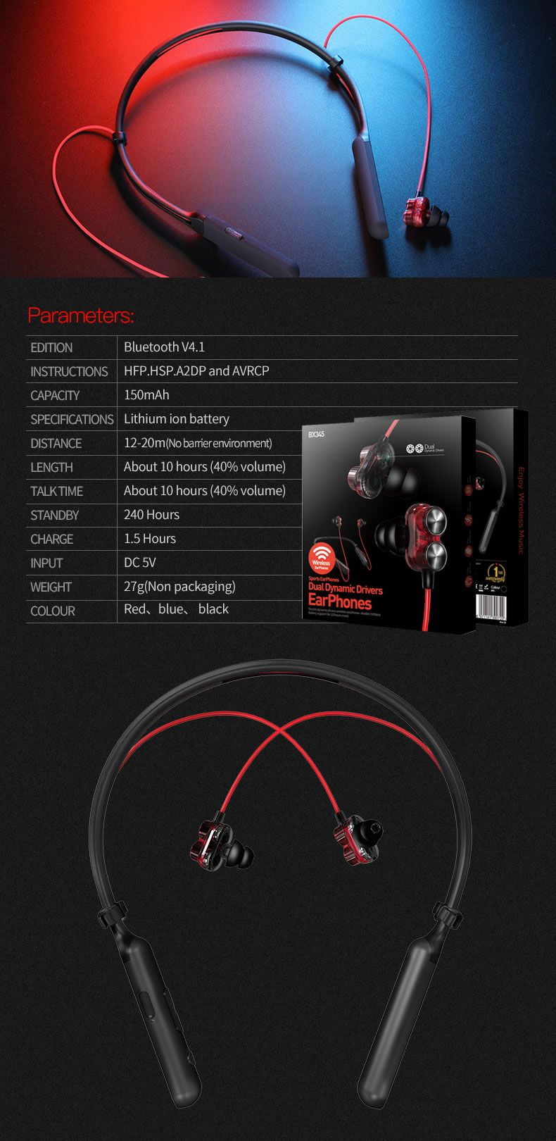Plextone Bx345 2dd Dynamic Bluetooth Neckband Headphones (12)